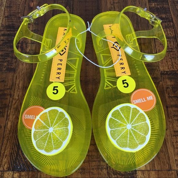 cff89b26b55b Katy Perry Shoes - NEW Katy Perry Geli Lemon Flat Sandal Fruit Scent